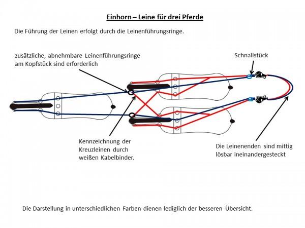 Einhorn-Leine (für 3 Pferde), Air rope