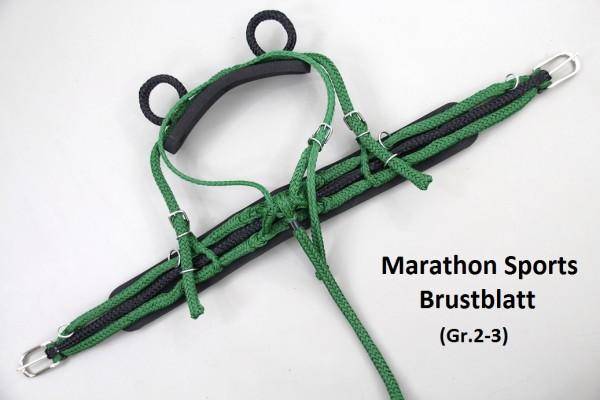 Marathon-Sports Brustblattgeschirr incl. Kammdeckel (Mehrspänner)