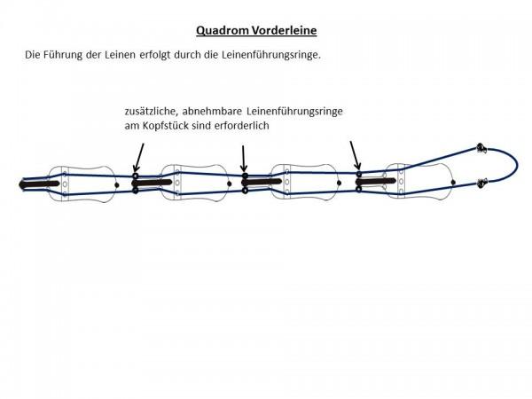 Quandrom-Leine für Vorderpferd