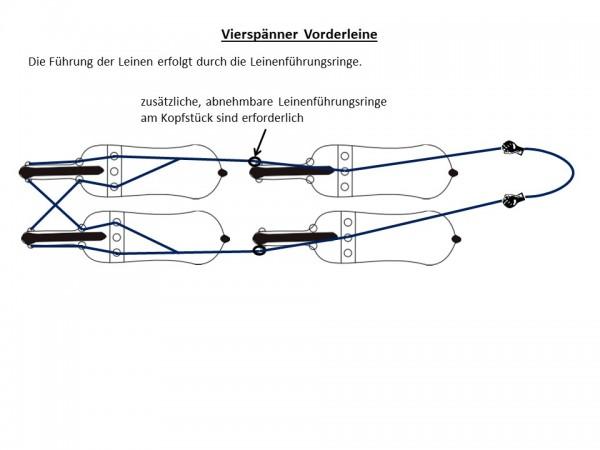 Vierspännerleine (nur Vorderpferde), Air rope
