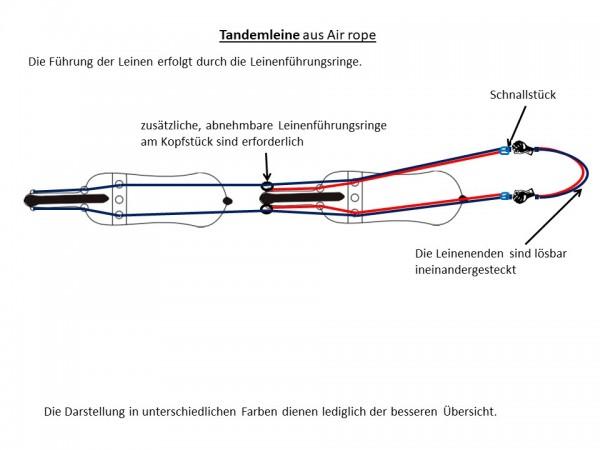 Tandemleine (für 2 Pferde), Air rope