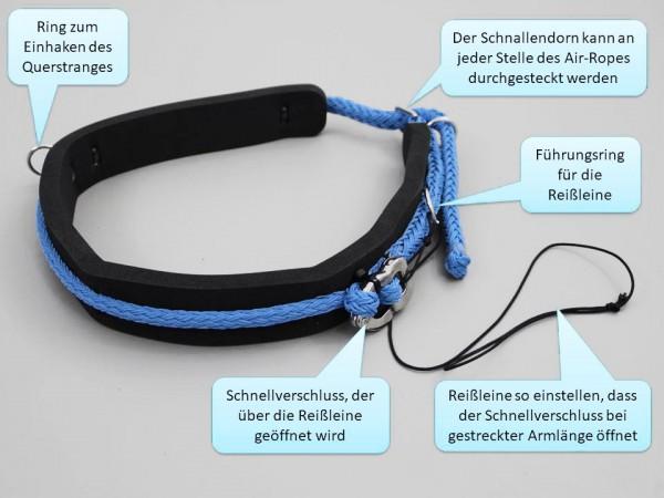 Begleithund-Gürtel mit Sicherheitskarabiner und Reißleine